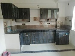 Wpc board with PVC laminate L Shape Modular Kitchen, Warranty: 5-10 Years
