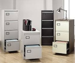 Metal Gray Filling Cabinet 4 Drawer, Size: 52x18x24