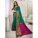 Tender Green Cotton Silk Saree
