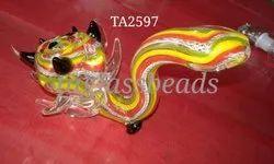 Rasta Colour Smoking Animal Pipe