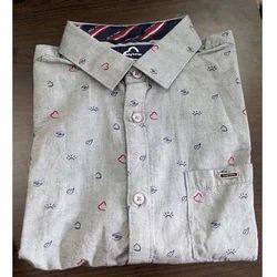 Full Sleeves Cotton Mens Printed Casual Shirt