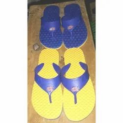 Blue, Yellow Rubber Gents Health Hawai Slippers, Size: 5-9