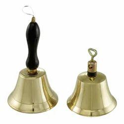 Brass Wooden Hand Held Bells