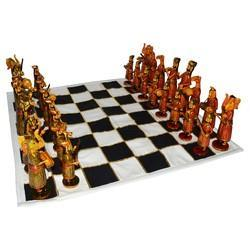 Bone Chess Sets With Cloth Board