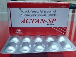 Aceclofenac, Paracetamol & Serratiopeptidase