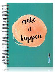 5 Subject Single Ruled Make It Happen Paper Soft Cover Wiro Notebook - B5 Size, 300 Pages