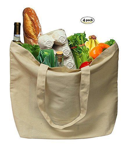 Various Cotton Canvas Grocery Bags