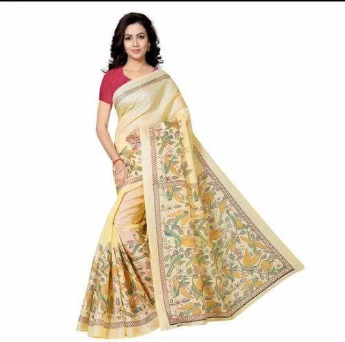 20dd8c6f13 Party Wear Printed Khadi Silk Sarees, Rs 300 /piece, Sarte   ID ...