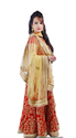 Red Lehenga With Off White Beige Dupatta