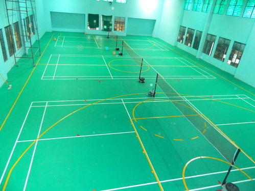 Sports Flooring Services Pvc Indoor Badminton Court Flooring