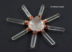 Arihant Crystal Quartz 7 Chakra Conical Copper Energy Generator