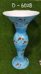 Blue Pedestal Wash Basin