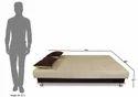 Adorn India Alyssum 3 Seater Sofa Cum Bed ( Brown & Beige)
