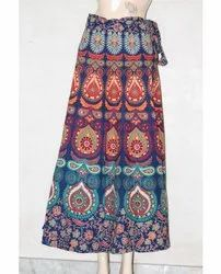 Jaipuri Print Wrap Around Skirt