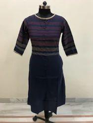 Embroidery Blue Ladies Kurti