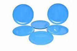 MEHUL 6 Pcs Melamine Half Plate - Blue (6 Plate Set)