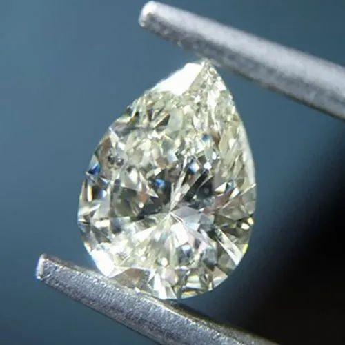 Khodal Impex Natural Pear Shape Diamond, Size: 0.80 Carat