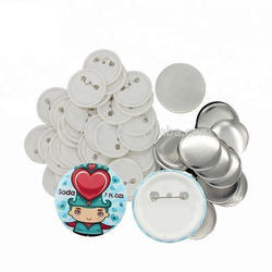 56mm Round Badges Material