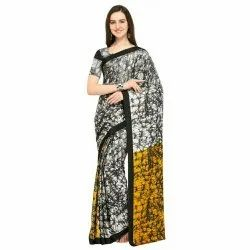 Ligalz presents Crape sarees with blouse