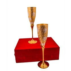 MOONTRIMS Gold Plated Wine Glass