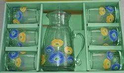 Fancy Glass Juice Set