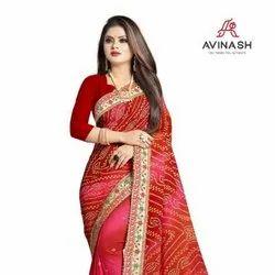 Traditional Wear Designer Pure Georgette Bandhani