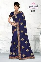 Designer Embroidery Silk Saree With Blouse Piece By Parvati Fabric (Vol-250)