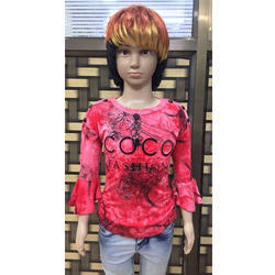 Girl's Red Trandy Top