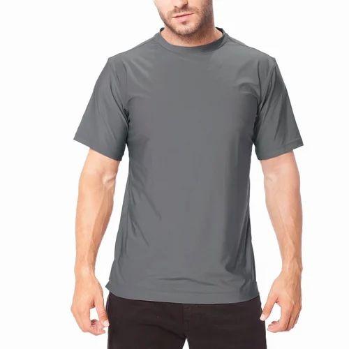 Mens Half Sleeve Plain Polyester T Shirt