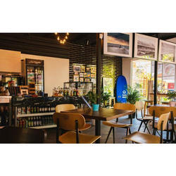 Wooden Cafe Interior Design Service
