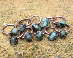 Emerald Rough Stone Rings