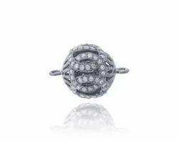 Silver Diamond Ball Connector
