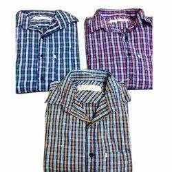 Full Sleeve Cotton Men's Casual Check Shirt