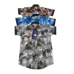 Kids Printed Party Wear Cotton Shirt