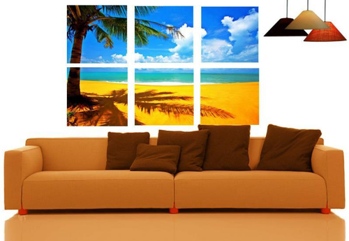 Canvas Split Wall Art Set Of 6 - Beach Special at Rs 4200 ...