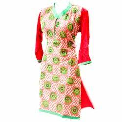 Cotton Straight Ladies Party Wear Kurti