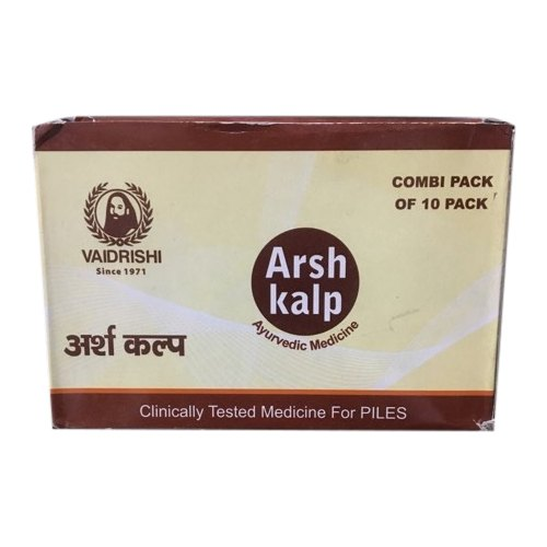 Vaidrishi Arshkalp Capsules, Combi Pack Of 10 Pack, Packaging Type: Box