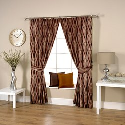 Wavy Coffee Curtain