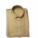 Cotton/linen Mens Full Sleeves Linen Shirt