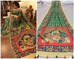 Designer Linen Saree