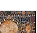 Semi Precious Gemstone Inlaid Marble Table Top