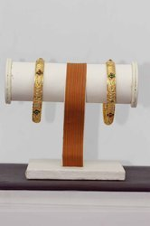 HR Sales Traditional Fancy Designer Casual Party Wedding Wear Gold Bangles for Women (HR-710)
