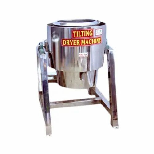 Tilting Oil Dryer Machine, Capacity: 120 Kg Per Day, Automation Grade: Automatic