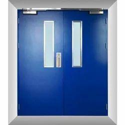 GSK Fabtech Blue Fire Resistant Metal Door