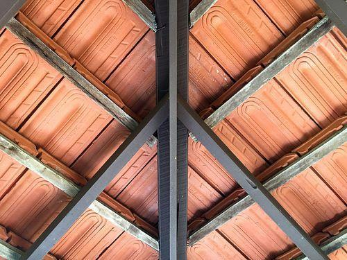 Terracotta Light Red Clay Ceiling Tiles Thickness 12