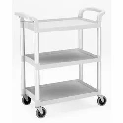 Stainless Steel White Pickup Trolley