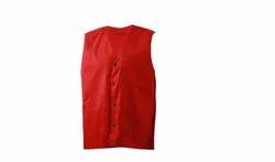 Lindstrom Red V Neck Waist Coat