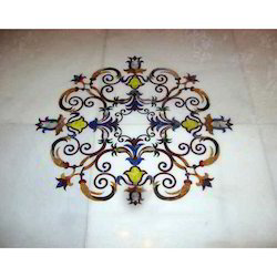 Antique Marble Inlay Flooring For Mahal, 1.5-5.5 Mm