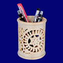 Natural Soapstone Pen Holder