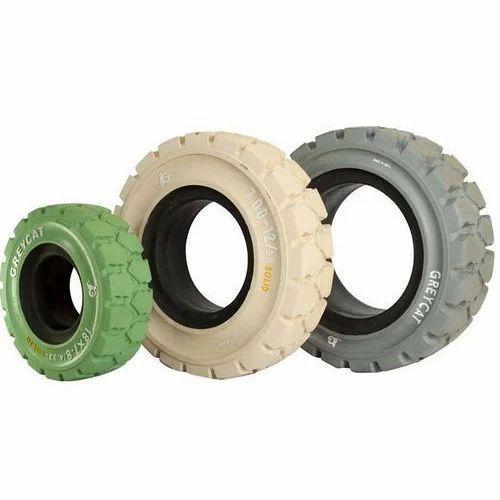 Non Marking Solid Tyre, Non Marking Solid Tire, नॉन मार्किंग सॉलिड टायर - Greycat Tyres Pvt. Ltd., Chennai | ID: 13113686197